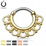 Piercing septum 33 - Vintage cercles et petits ronds