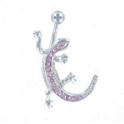 Piercing nombril salamandre rose (21)