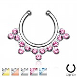 Faux-piercing septum multiples strass (37)