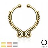 Faux-piercing septum cercle décoré (19)