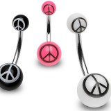 Piercing nombril UV 60 - Peace and love