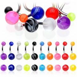 Piercing nombril UV 26 - Melon