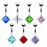 Piercing nombril cristal 08 - Losange