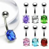 Piercing nombril cristal 06 - Ovale