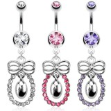 Piercing nombril noeud papillon 02 - Cercle