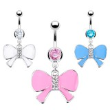 Piercing nombril noeud papillon 26 - Coloré