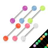Piercing langue acry 04 - Fluorescent