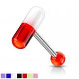 Piercing langue coquine 09 - Pilule acrylique