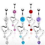 Piercing nombril coeur 05 - Double