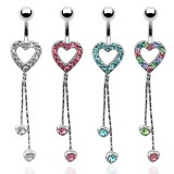 Piercing nombril coeur 15 - Chainettes