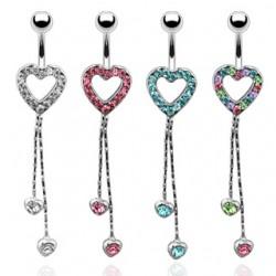 Piercing nombril coeur 15 - Chainettes