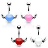Piercing nombril coeur 49 - Ailé