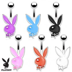 Piercing nombril Playboy 14 - Lapin coloré