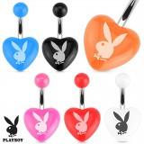Piercing nombril Playboy 15 - Acrylique coeur