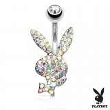 Piercing nombril Playboy 18 - Lapin multistrass
