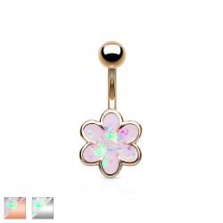 Piercing nombril fleur 21 - Glitter