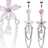 Piercing nombril fleur 32 - Chainettes