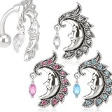 Piercing nombril inversé 39 - Lune
