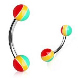 Piercing pour arcade acry 12 - UV Rasta