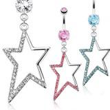 Piercing nombril étoile 25 - Creuse