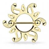 Piercing téton soleil avec creux (03)
