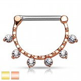 Piercing téton six strass transparents (43)