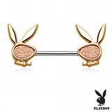 Piercing téton playboy 7 - Lapins satins