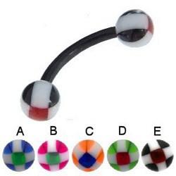 Piercing pour arcade acry 30 - Flexible pavé boules