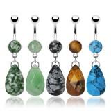 Piercing nombril pierre semi-précieuse 01 - Gem