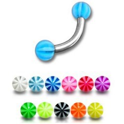 Piercing pour arcade acry 07 - UV beach-ball