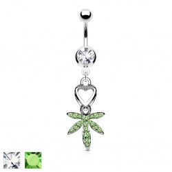 Piercing nombril cannabis 04 - Coeur