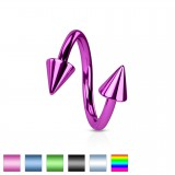Piercing micro-spirale 08 - PVD pointes