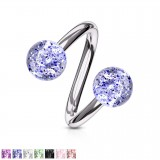 Piercing spirale 18 - UV paillettes