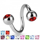 Piercing spirale 07 - boules strass
