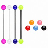 Piercing industriel 14 - UV unicolore boules