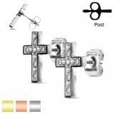 Clous en acier 97 - Croix strass