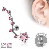 Piercing oreille original 18 - étoile B