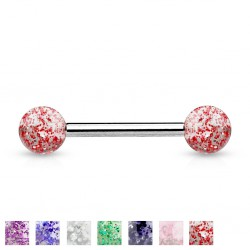 Piercing de langue UV 05 - Paillettes