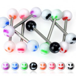Piercing de langue UV 61 - Smiley face