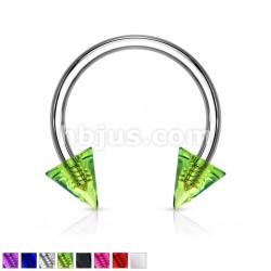 Piercing micro-circulaire 18 - UV unicolore pointes