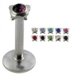 Piercing micro-labret 29 - Strass in papillon