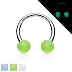 Piercing fer à cheval 16 - Fluorescent boules