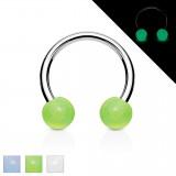 Piercing micro-circulaire 15 - UV fluorescent boules