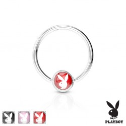 Piercing anneau 1,6mm 87 - Logo playboy