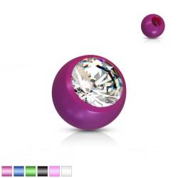 Boule UV unicolore avec strass 1,6mm