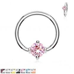 Piercing anneau 1,6mm 28 - Cristal rond