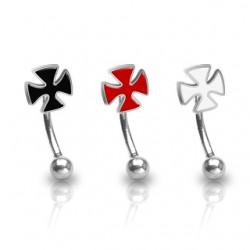 Piercing arcade 39 - Croix colorée