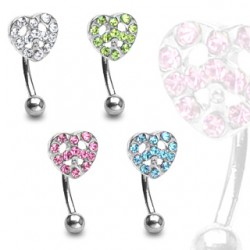 Piercing arcade 44 - Strass peace and love