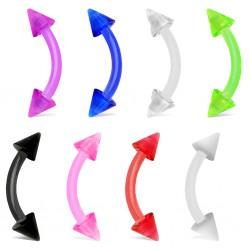 Piercing pour arcade acry 05 - UV flexible pointes