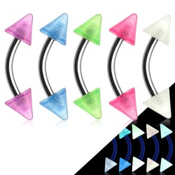 Piercing pour arcade acry 13 - Fluorescent pointes 4mm